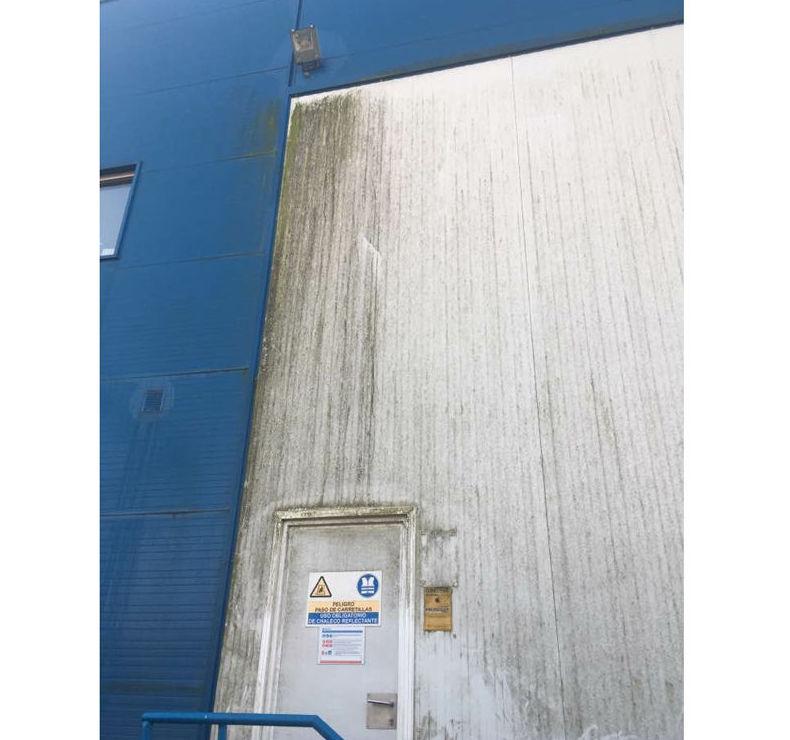 Antes de limpieza de fachada