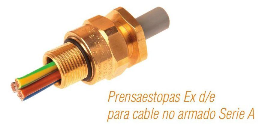 Prensaestopas Ex d/e para cable no armado Serie A