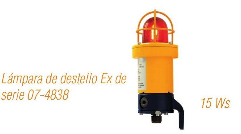Lámpara de destello Ex de serie 07-4838 15 Ws