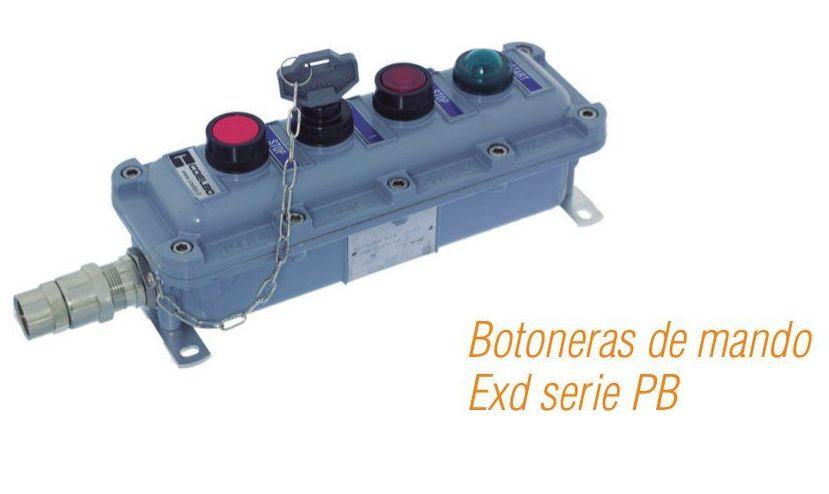 Botoneras de mando Exd serie PB