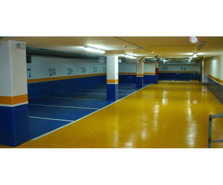 Limpieza de garaje con suelo epoxi en Asturias