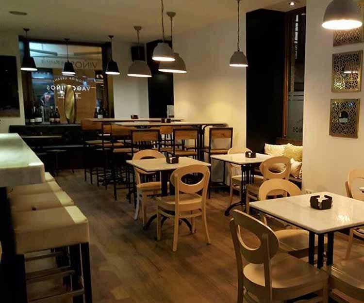 Interior del restaurante en Cambados