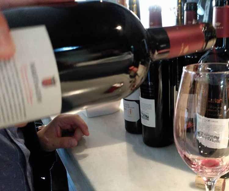Bar de vinos en Cambados
