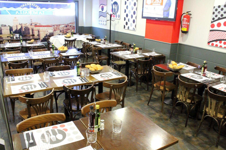 Salón de nuestro restaurante en Las Tablas, Madrid
