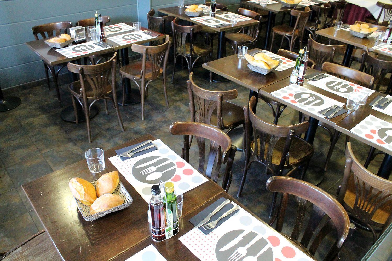 Mesas de nuestro restaurante en Las Tablas, Madrid
