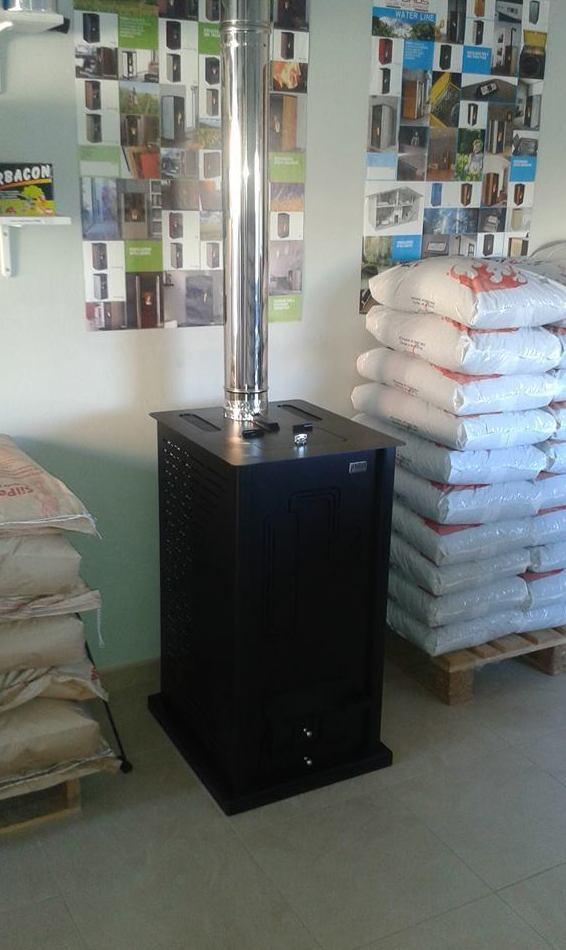 Instalación de estufas de pellet