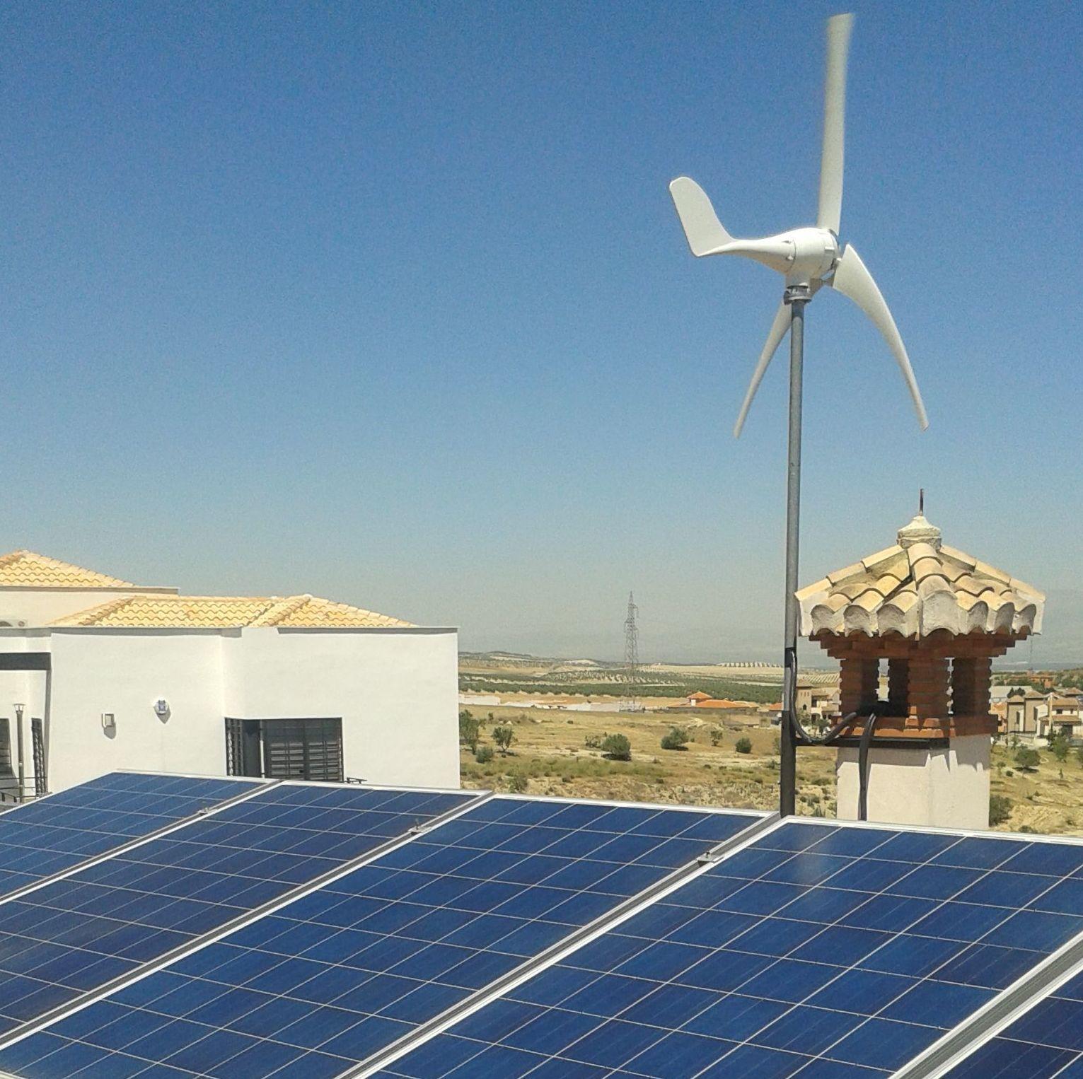 instalacion de fotovoltaica aislada mixta