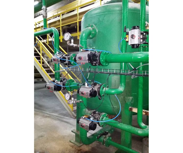 Control de filtro de agua industrial