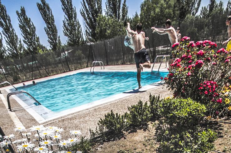 Camping con piscina en Salmanca