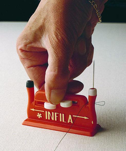 Enhebrador de agujas de coser