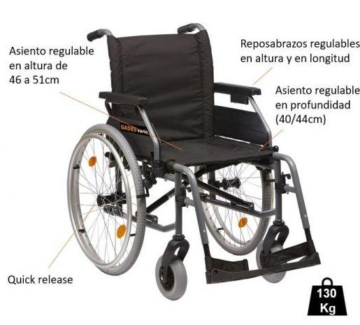 Silla de ruedas plegable Gades Vario 2 Gijón