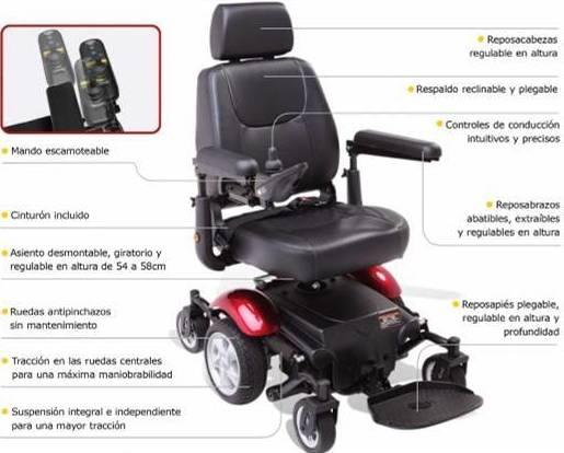 """Silla de ruedas eléctrica con tracción central """"R300"""" Asturias"""