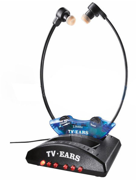 Auriculares inalámbricos amplificadores para TV