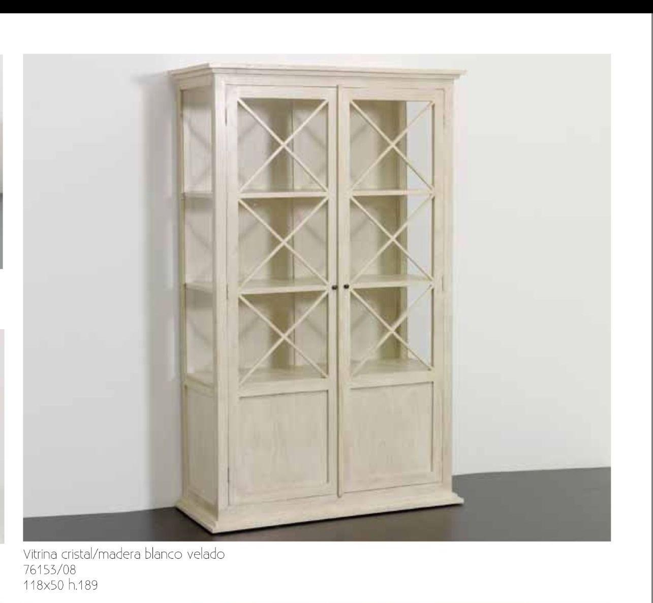 Librería Vitrina madera blanco roto y cristal: Catálogo de Ste Odile Decoración