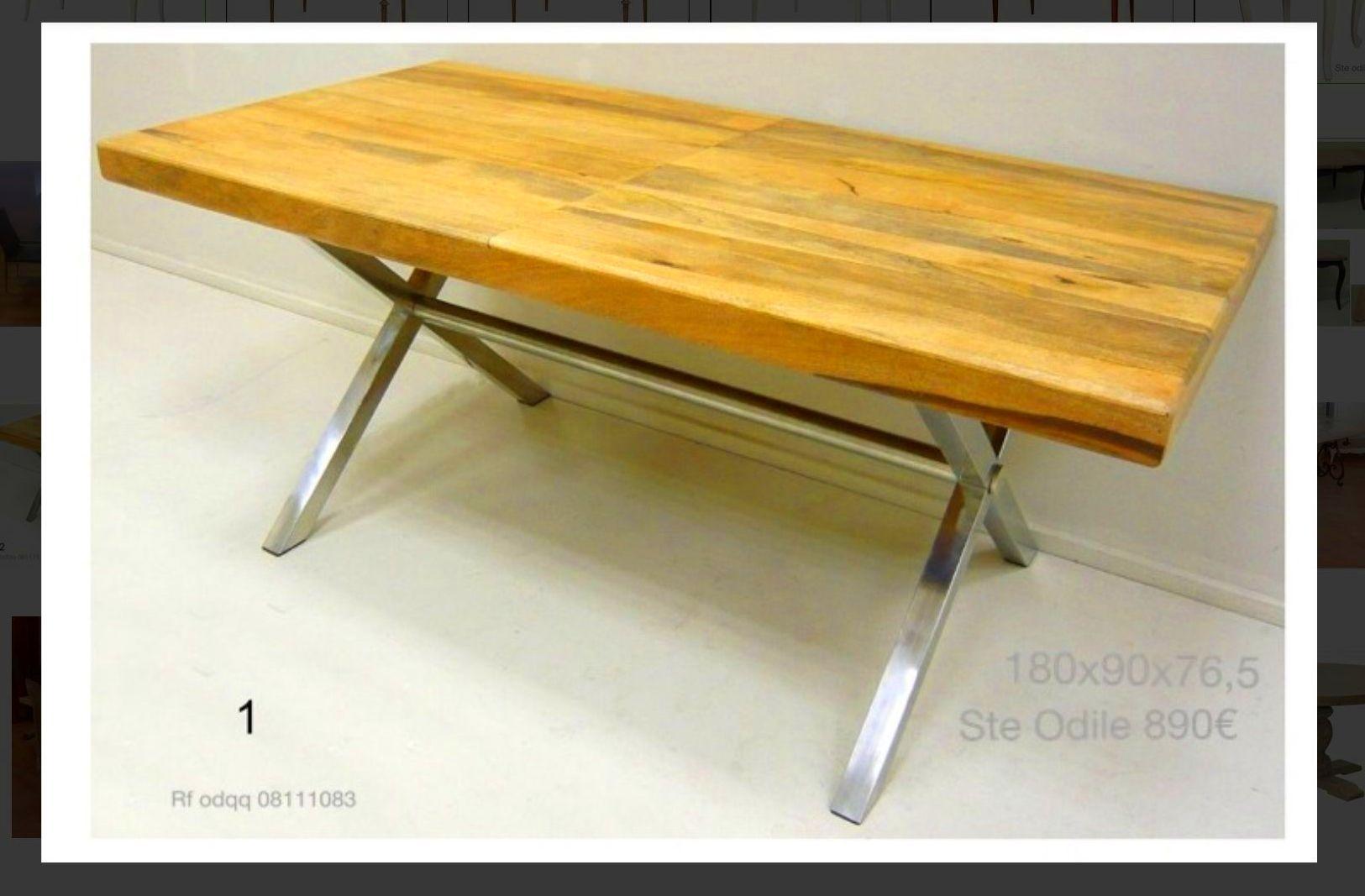 Mesa de comedor en madera y acero: Catálogo de Ste Odile Decoración