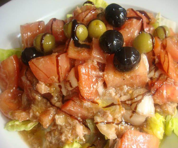 Diversos tipos de ensalada