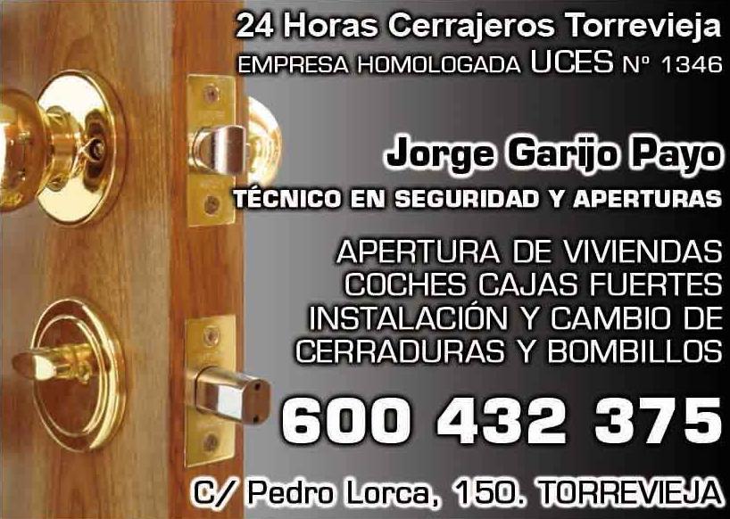 Foto 2 de Cerrajería en  | 24 Horas Cerrajeros Urgencias Torrevieja