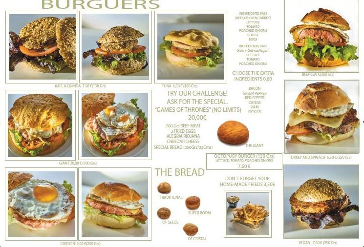 Nuestra carta y menús: Servicios de Restaurante Birjilanda