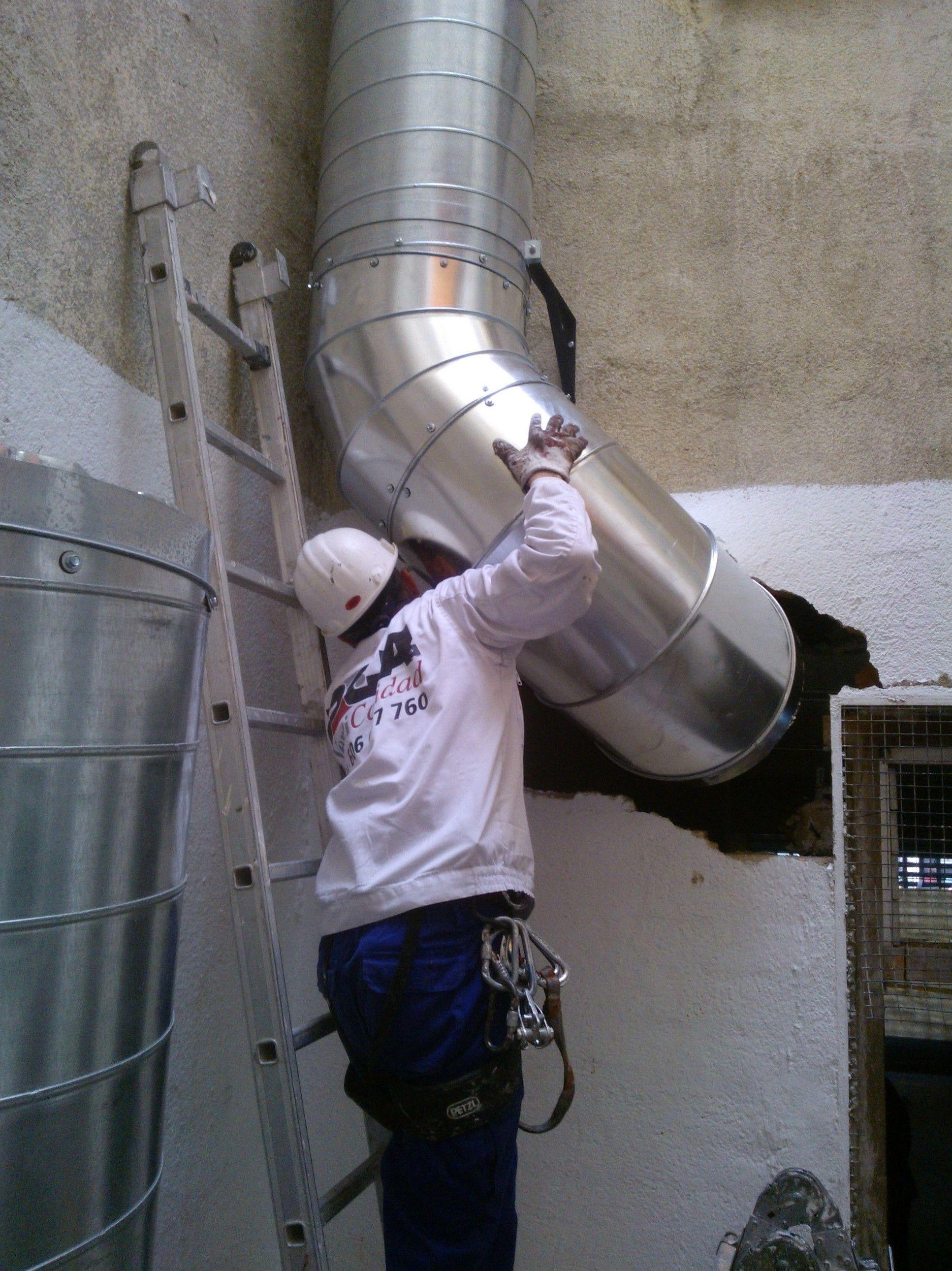 Instalación de chimeneas modulares