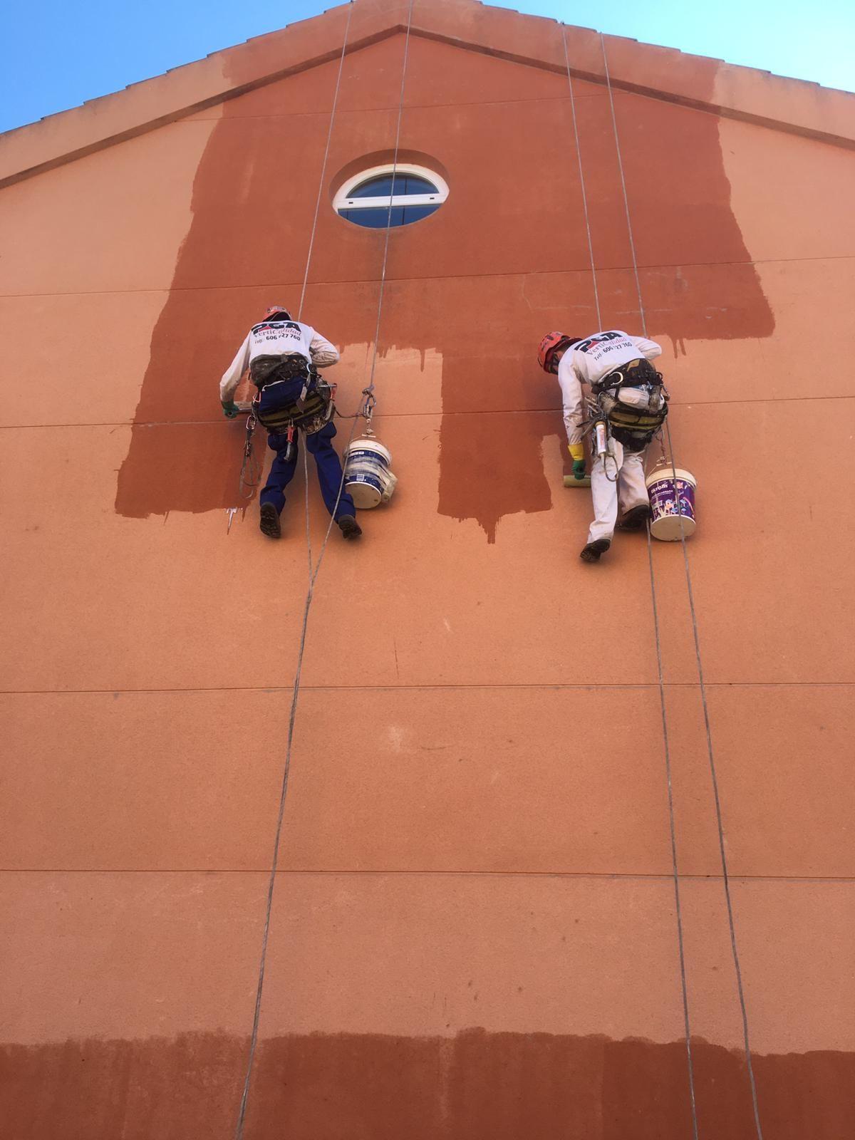Mantenimiento de fachadas.