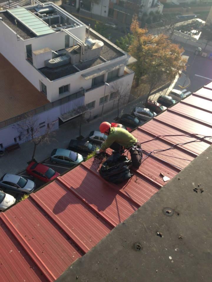 Trabajos profesionales en suspensión en el eixample de Barcelona