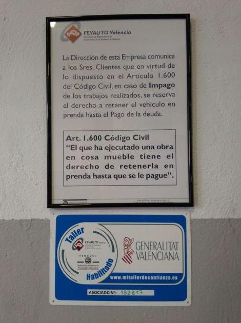 Certificados de la Comunidad Valenciana