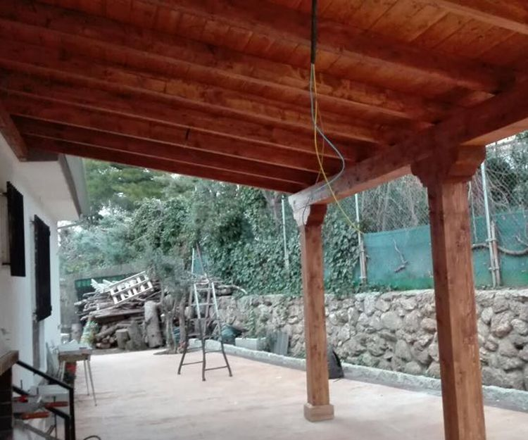 Vigas de madera en Boadilla del Monte