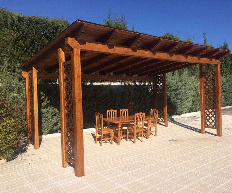 Cenadores para jardín de madera en Boadilla del Monte