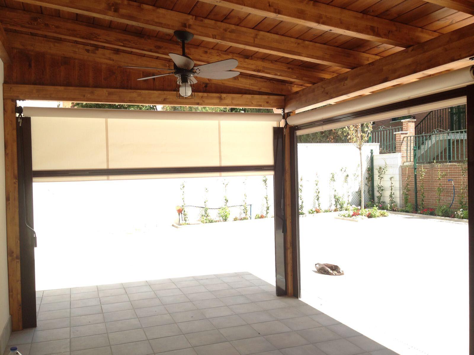 Porche de madera en Majadahonda