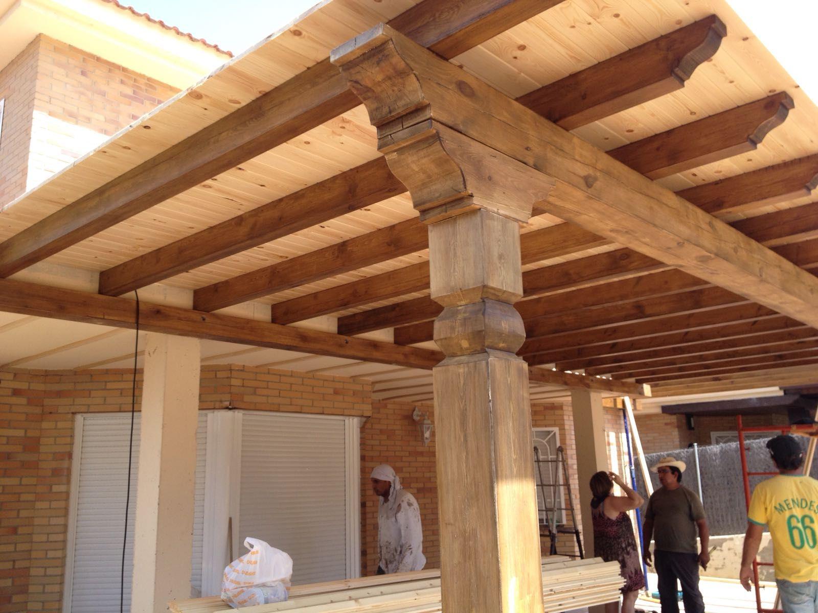 Vigas de madera en Madrid sur