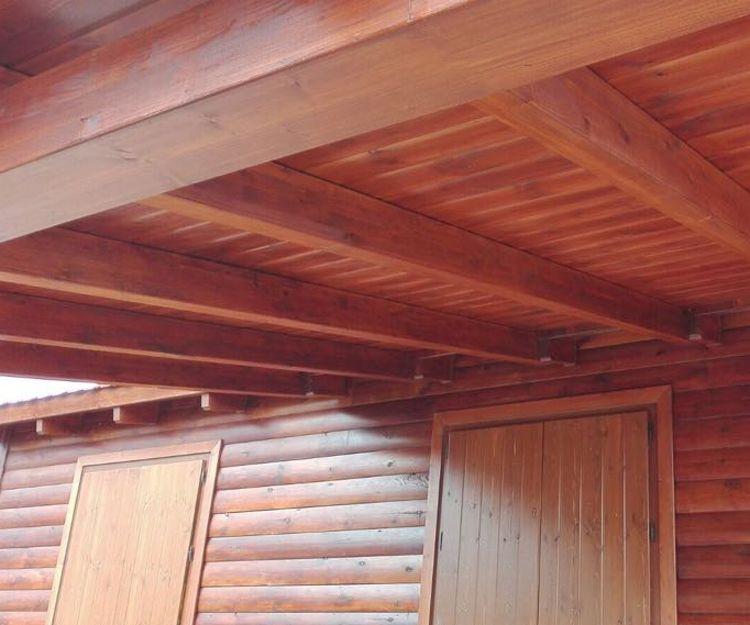 Vigas de madera en Majadahonda