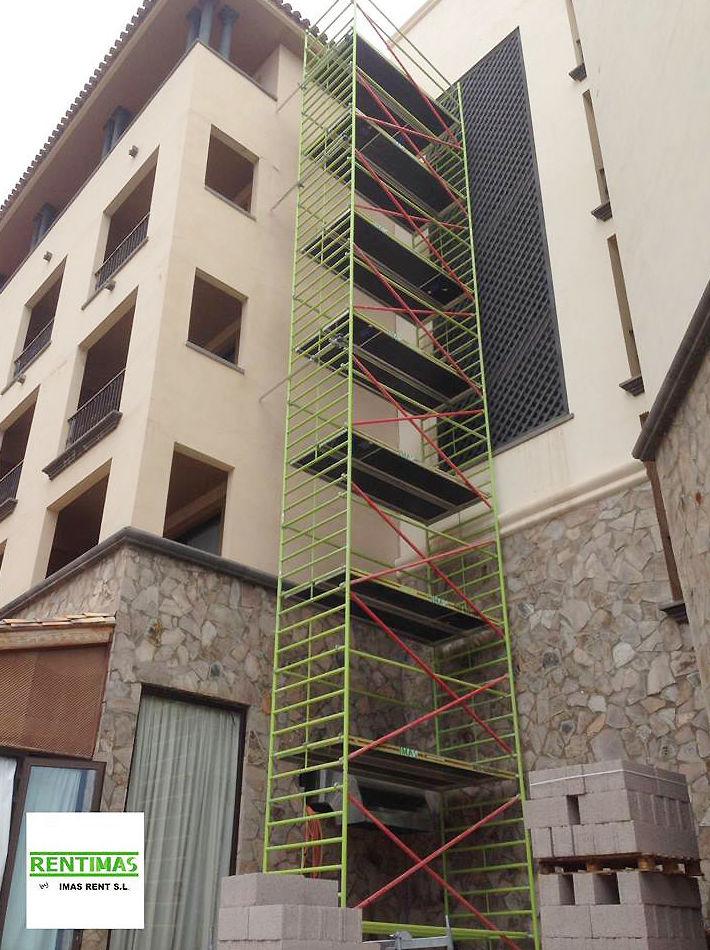Andamios de aluminio de hasta 14 metros en Tenerife