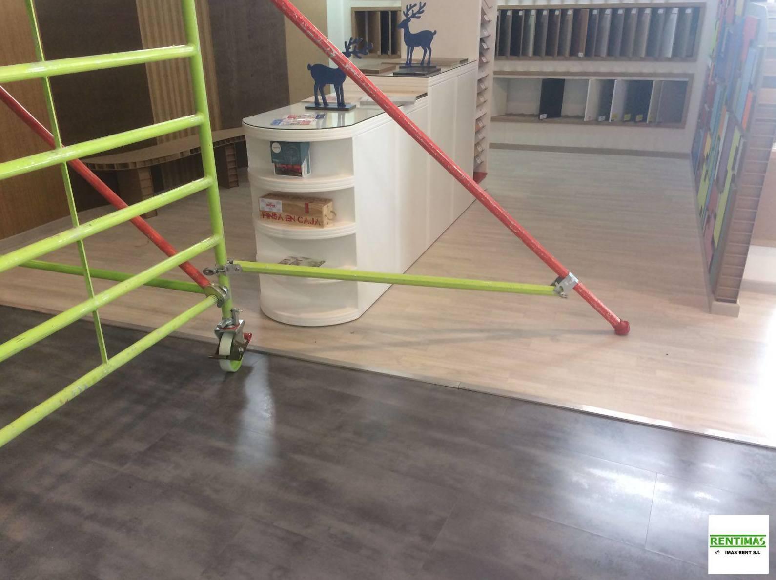 Alquiler de andamios para reparaciones