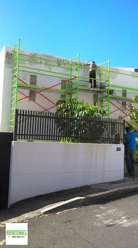 Andamios ligeros para rehabilitación de fachadas de poca altura