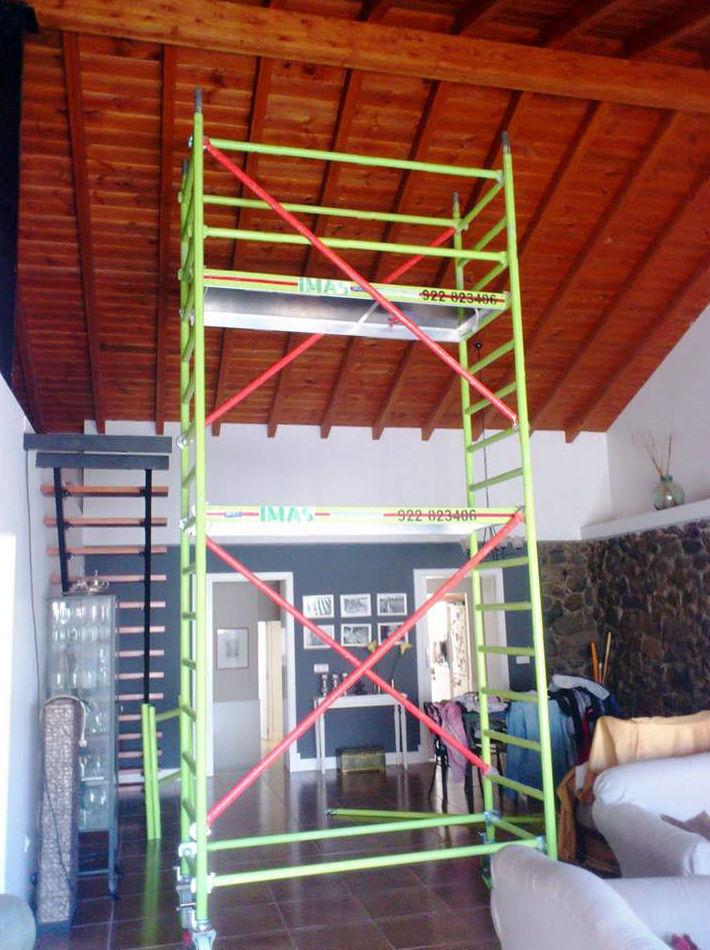 Alquiler de andamios de aluminio en Tenerife