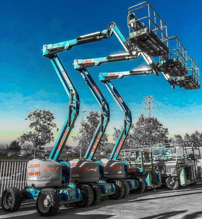 Plataformas de Brazo Articulado (Diesel y Eléctrico): Productos y servicios de Plataformas Aéreas Altex SL