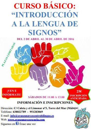 Curso Básico: Introducción a la Lengua de Signos