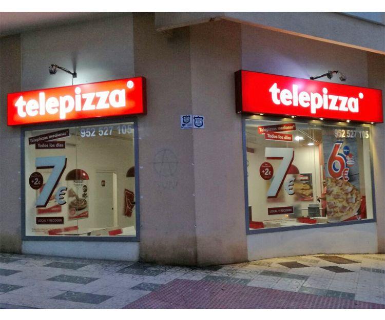 Rótulo luminoso de Telepizza