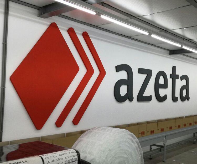 Letras corpóreas en Azeta