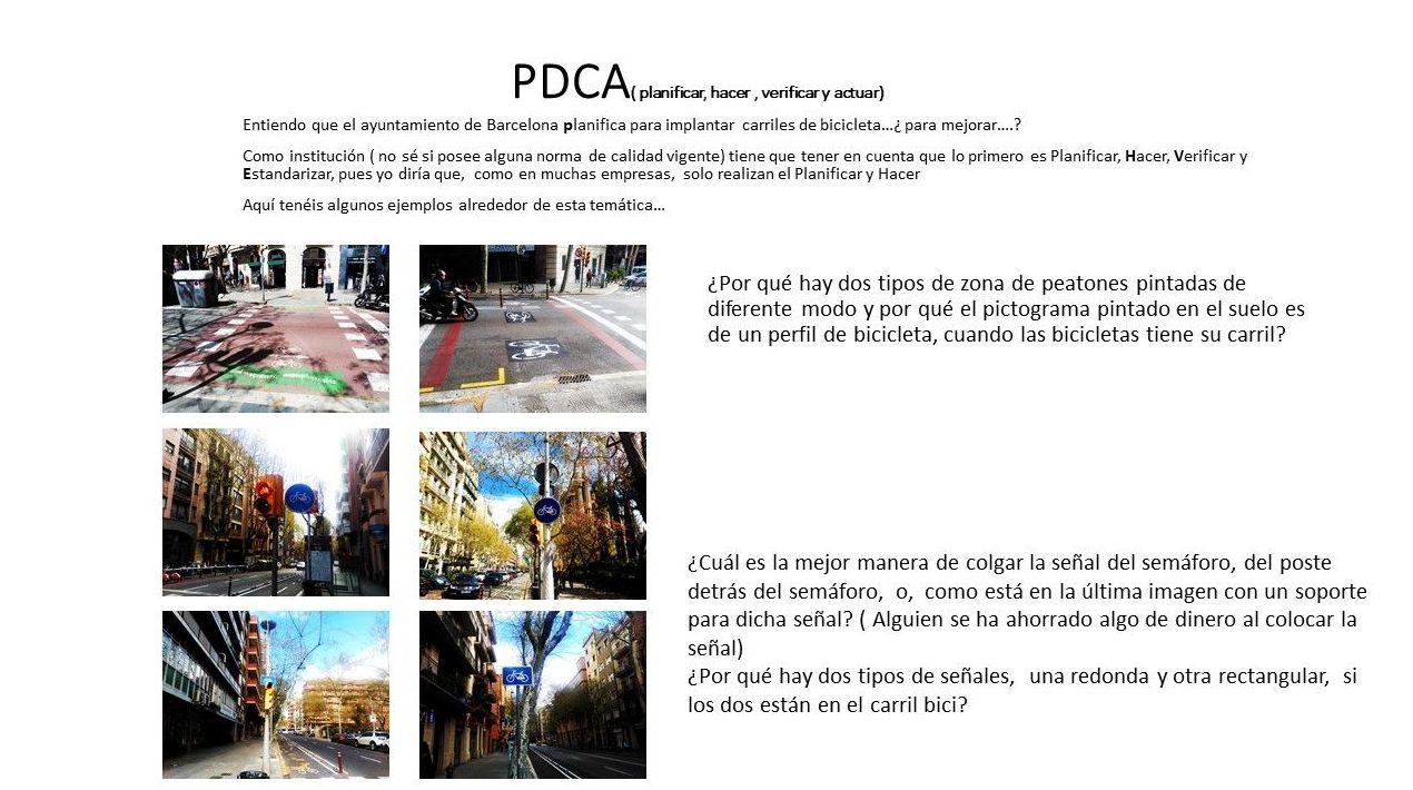 Planificar, hacer, verificar y estandarizar( clico de Deming PDCA)