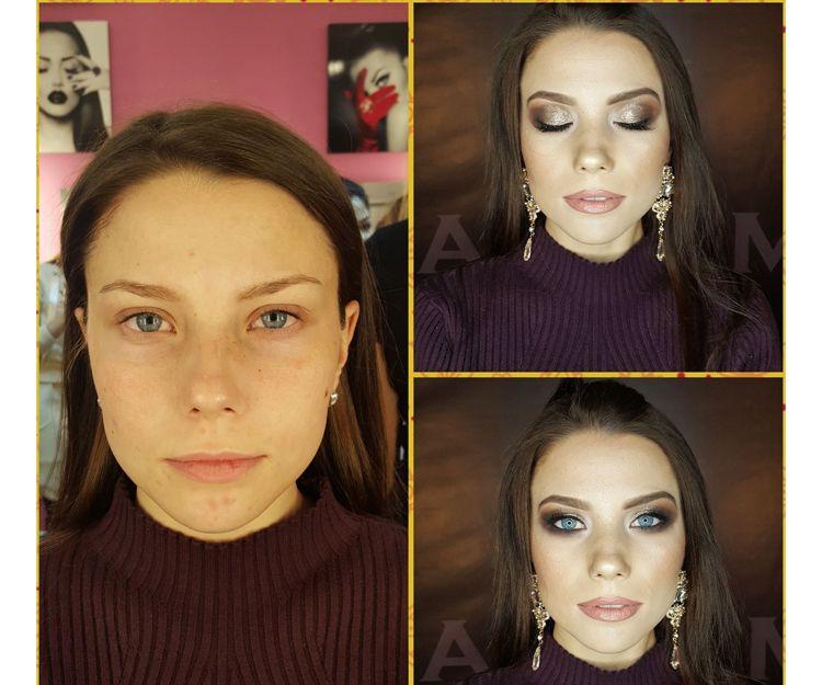 Salón de belleza. Maquillaje