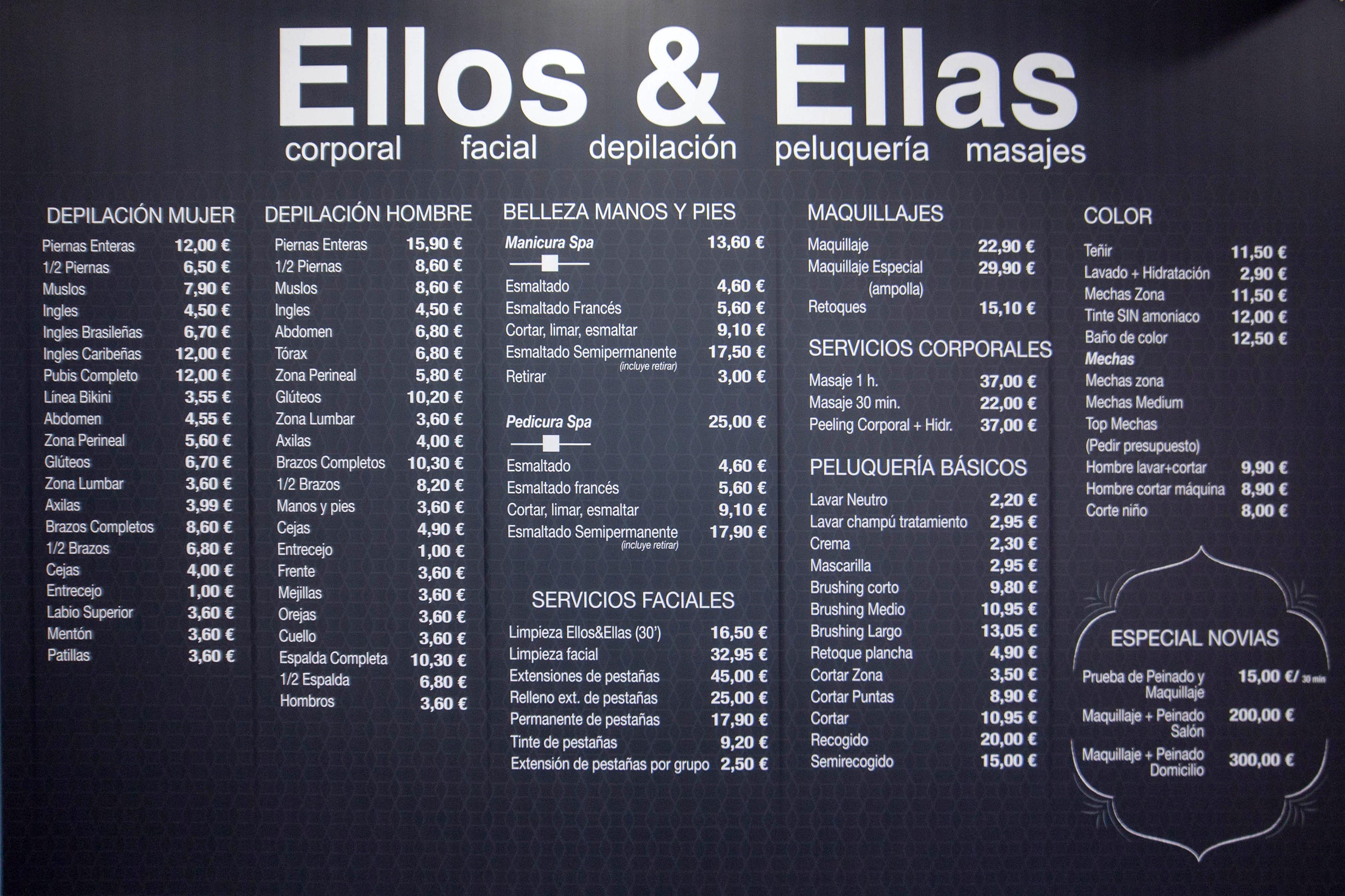 Depilación y peluquería en Almería