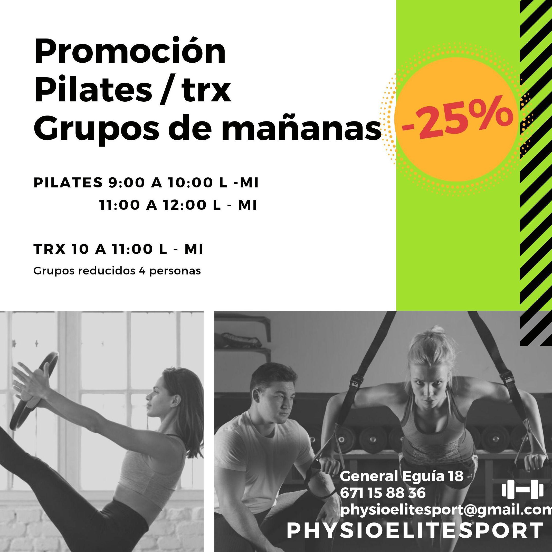 Promoción pilates trx grupos mañana PhysioEliteSport Bilbao