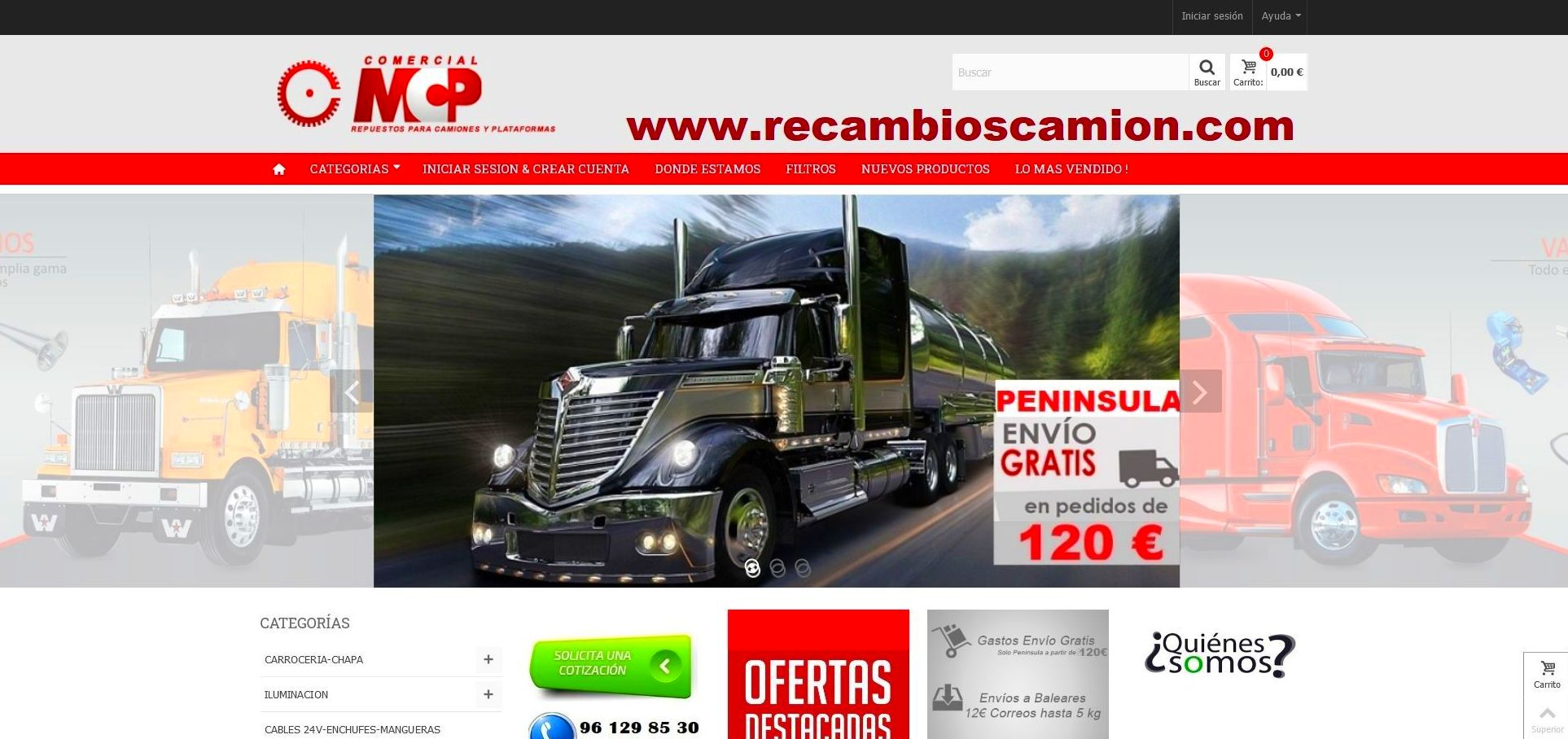 Foto 17 de Recambios y accesorios de todas las marcas para camiones y remolques en Cuart de Poblet | MCP