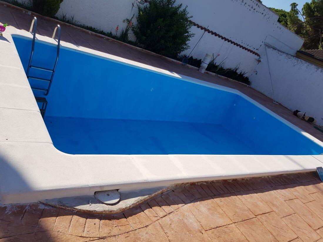 Reforma de patio con piscina