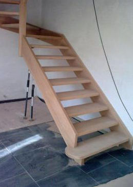 Realización de escaleras de madera