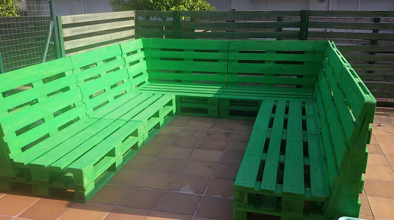 Mobiliario de jardín de madera