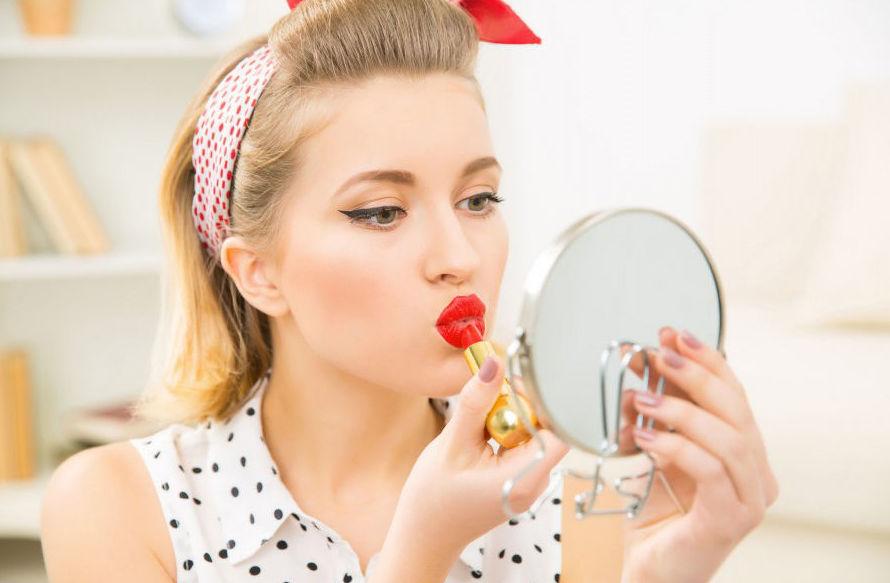 Curso de maquillaje vintage con fotos Pin