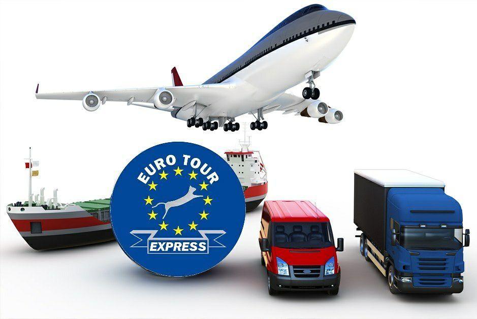 Transporte de mercancías. Aéreo, terrestre y marítimo: Servicios de Euro Tour Express S.L.