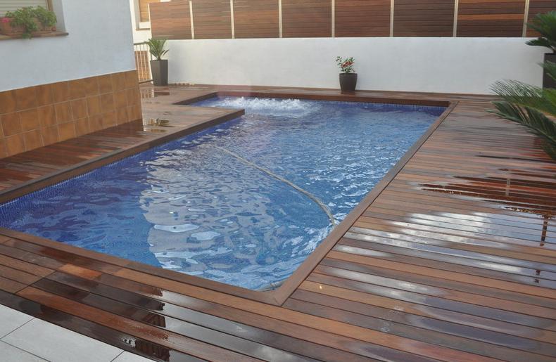 Tarima de ipe productos y servicios de piscinas unic for Productos para piscinas